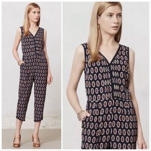 Lilian x Anthro Samedi Patterned Snap-Up Jumpsuit